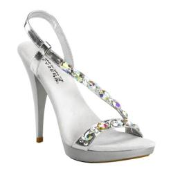 Women's Pleaser Revel 03 Silver PU