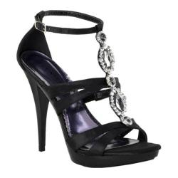 Women's Pleaser Revel 18 Black Satin