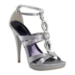 Women's Pleaser Revel 18 Silver Satin