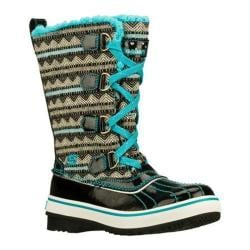 Girls' Skechers Highlanders Style Gliders Black/Blue