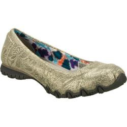 Women's Skechers Relaxed Fit Bikers Metal Lace Gray