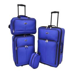 US Traveler Blue Potenza 4-Piece Luggage Set