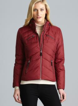 Andrew Marc Hypoallergenic Down Jacket With Hidden Collar Hood