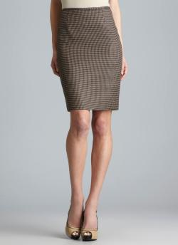 Calvin Klein Back Vented Knit Skirt