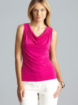 Calvin Klein Sleeveless Cowl Neck Shell