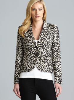 Calvin Klein Three Pocket Animal Print Blazer