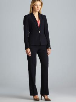 Calvin Klein Two Pocket One Button Pant Suit