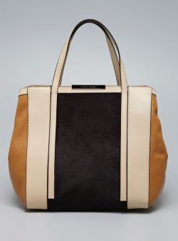 Charles Jourdan Bailey II Pony Hair Leather Tote