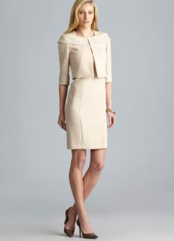 Tahari Sandra 3/4-Sleeve Dress Suit