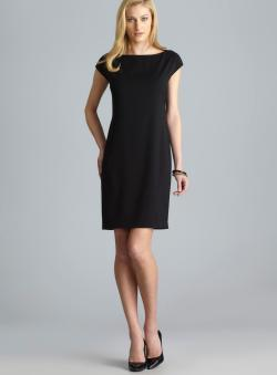 Tahari Sleeveless Shift Dress With Back Waist Detail