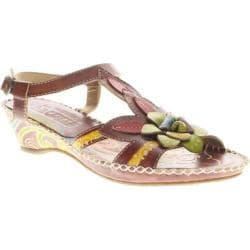 Women's Spring Step Poolside Brown Leather