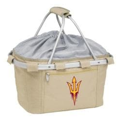 Picnic Time Metro Basket Arizona State Sun Devils Print Tan