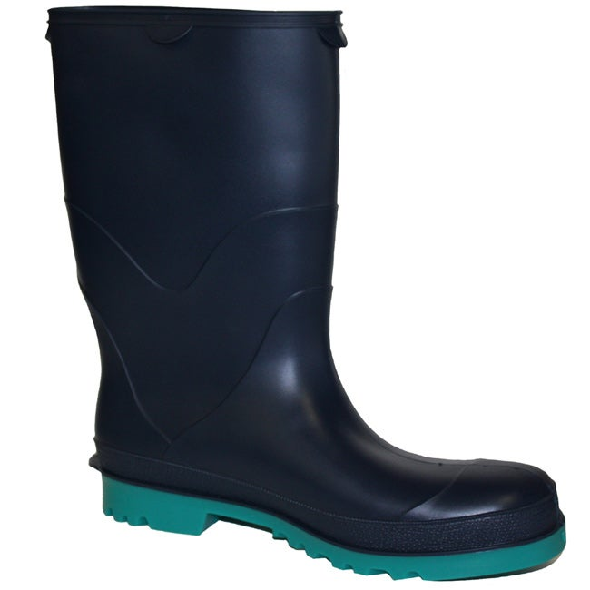 StormTracks Boy's Blue and Green Waterproof Rubber Boots