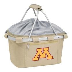 Picnic Time Metro Basket Minnesota golden Gophers Print Tan