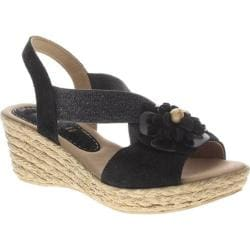 Women's Azura Ruby-Mae Black Suede