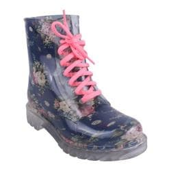 Women's Wild Diva Rain-1 Blue Rubber