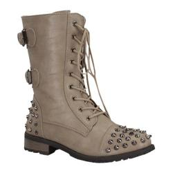 Women's Wild Diva Mango-66 Taupe Faux Leather