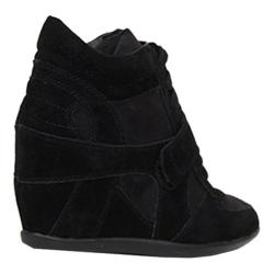 Women's Beston Metro-01W Black Faux Suede
