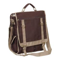 Goodhope P4687 Expresso Vertical Canvas Brief Brown