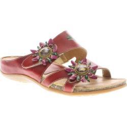 Women's Spring Step Melange Red Leather