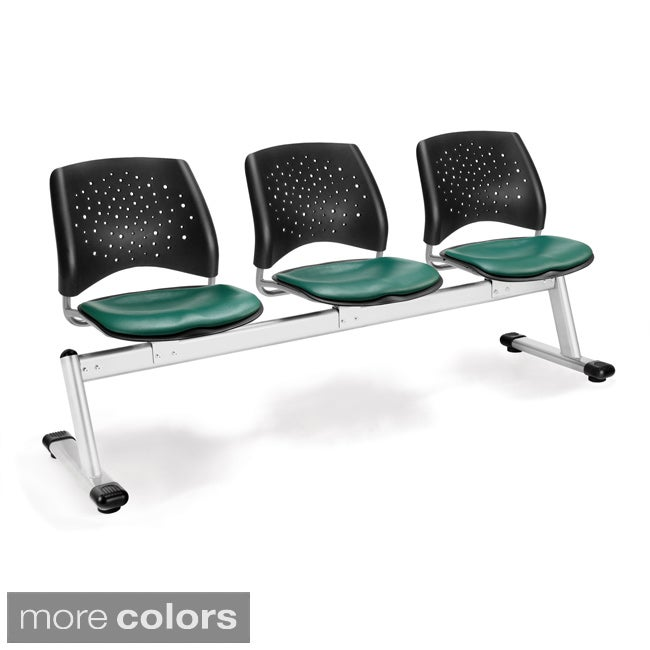 Star Series 3-unit Beam Seating with Vinyl Seats