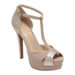 Women's Jessica Simpson Eva Light Gold/Cocoa Sand Armor Metallic