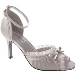 Women's Dyeables Frilly Silver Satin