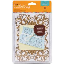 Cuttlebug 5 X7 Cut & Emboss Die By Anna Griffin - Flourish Emblem