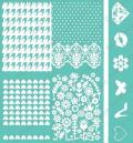 Cuttlebug 5 X7 Embossing Folder/Border Set - Girly Girl