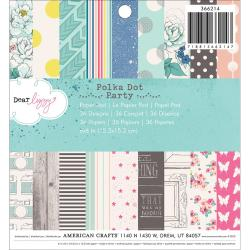 Polka Dot Party Paper Pad 6 X6 36/Sheets - 36 Designs