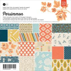 Persimmon Paper Pad 6 X6 36/Sheets - 18 Double-Sided Designs/2 Each