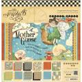 Mother Goose Double-Sided Paper Pad 12 X12 - 24 Sheets -12 Designs/2 Each