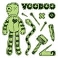 Inkadinkado Halloween Cling Stamp 4 X4 Sheet - Voodoo Doll