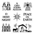 Inkadinkado Christmas Inchie Clear Stamps 4 X5.125 Sheet - Holy Night