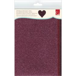 Self-Adhesive Glitter Sheets 6 X9 3/Pkg - Starlet - Red Hues