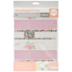 Self-Adhesive Envelope Wraps 18/Pkg - Floral