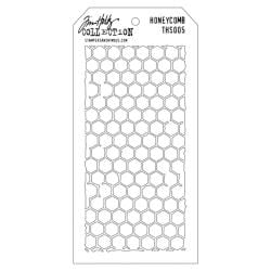 Tim Holtz Layered Stencil 4.125 X8.5 - Honeycomb