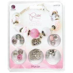 Large Hole Bracelet Kit - Rose 14pcs