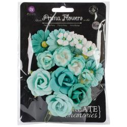 Audrey Mulberry Paper Flowers .75 To 1.5 16/Pkg -