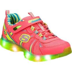 Girls' Skechers S Lights Glitzies Spark Upz Pink/Green