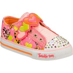 Girls' Skechers Twinkle Toes Shuffles Slide Step Pink