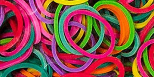 Mini Rubber Bands 1000/Pkg W/36 Clips - Multicolor