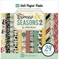 Times & Seasons 2 Cardstock Pad 6 X6 24/Sheets - Double-Sided