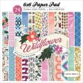 Wildflower Cardstock Pad 6 X6 24/Sheets - Double-Sided