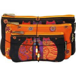 Cosmetic Bag Set Of Three - Feline Friends