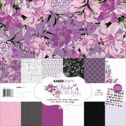 Violet Crush Paper Pack 12 X12 - 6 Double-Sided Designs/2 Each + Stickers