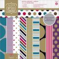 Papermania Spots/Stripes Jewels Paper Pack 12 X12 32/Sheets - 16 Designs/2 Each, 180gsm