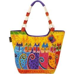 Scoop Tote Zipper Top 19 X5 X13-1/2 - Feline Tribe