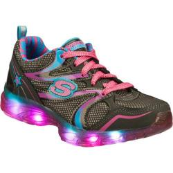 Girls' Skechers S Lights Glitzies Gray/Multi