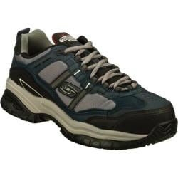 Men's Skechers Work Relaxed Fit Soft Stride Grinnell Comp Navy/Gray